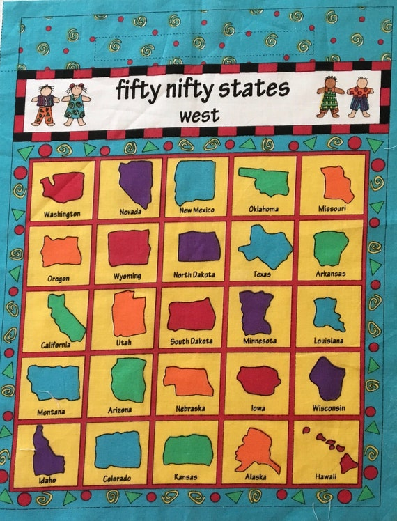 Kidz on the Go Fifty Nifty States Games / United States Map Game / State  Capitol Game