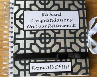 Retirement Keepsake Album/Farewell Group Gift/ Memory Album/ Career History Book/Photo Album/ From All Of Us Gift.