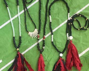 Gameday tassel necklaces! Carolina Gamecocks! USC