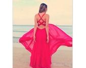 Dreamy Beach Photography, Summer Prints, Fuschia, Travel Photography, Miami Beach, Wall Art, Photography, Fine Art Print, 8x10, 11x14