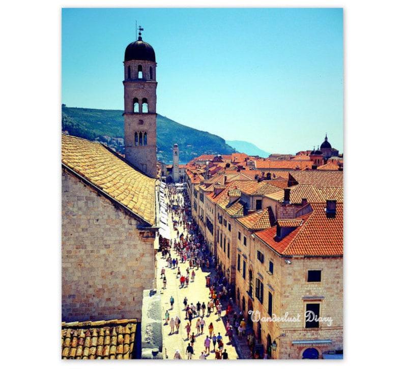 Dubrovnik European Photography,Home Decor Croatia Europe Travel Photography Travel Wall Art City Photography Rooftops Fine Art Print