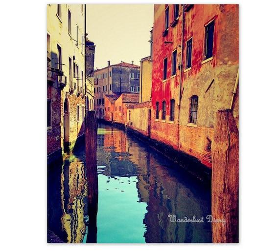 Venice Print Travel Photography Venice Wall Art Rustic | Etsy