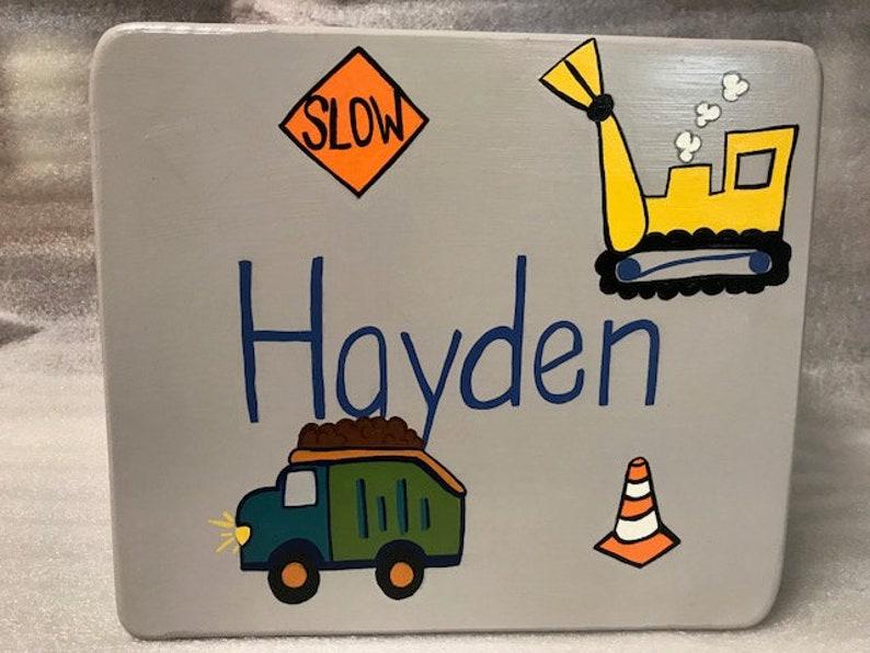 Child's Single Step Stool Road Construction!