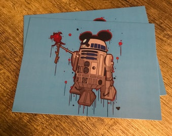 R2D2 Love Post Card