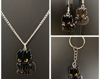 How To Train Your Dragon Necklace Etsy
