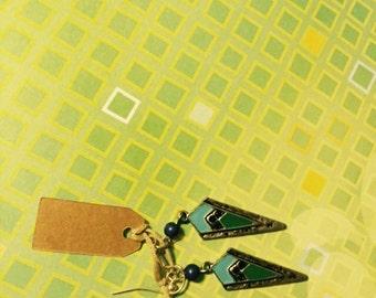 Triangle Droplet Earrings