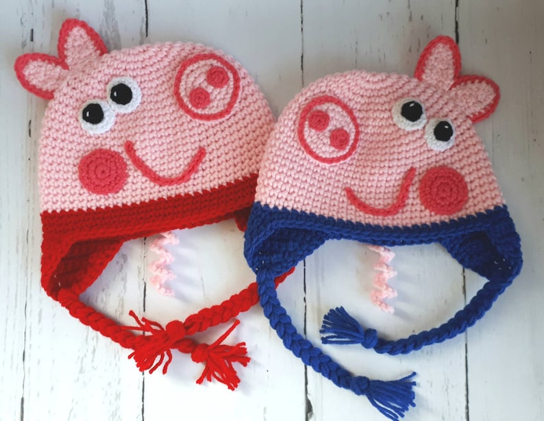 b223befb061 Peppa Pig Inspired Hat George Pig Inspired Hat Baby Hat