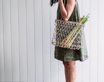 Womens linen shift dress / simple shift style / preshrunk / french seams / ships plastic free