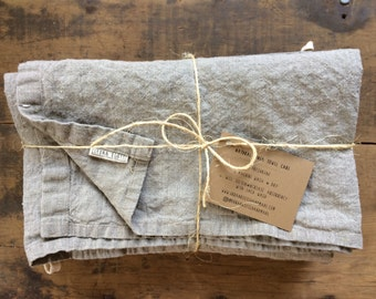4pc Flax Linen bath towels / natural  bath sheet / sauna / travel towels - minimal eco-friendly + pre-washed in ANY COLOR