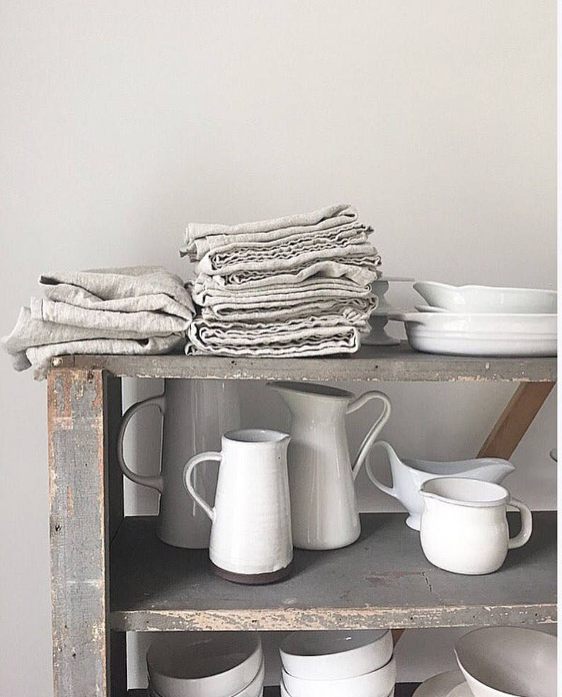 Oversized Linen Kitchen Towel   / earth conscious / rustic / image 0