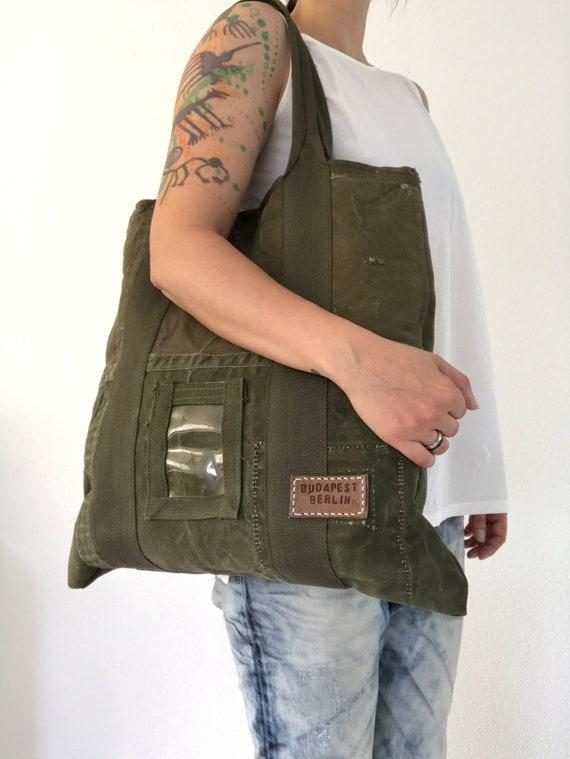 Recycled dutch military tote bag  6c60f31f46f4b