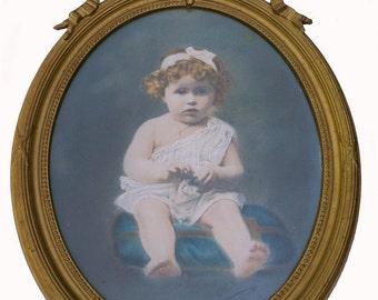 Antique Photograph Young Girl signed Legarcon 1921 Paris