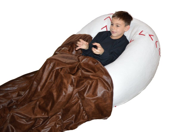 Admirable Baseball Bean Bag Chair With Baseball Glove Blanket Alphanode Cool Chair Designs And Ideas Alphanodeonline