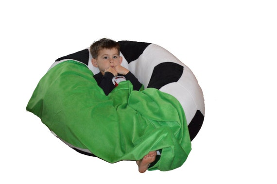 Incredible Soccer Ball Bean Bag Chair With Blanket Of Grass Ocoug Best Dining Table And Chair Ideas Images Ocougorg