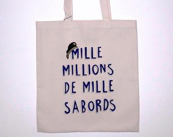 """Tote bag """"Mille millions de mille sabords"""""""