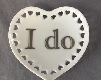 """Heart with Hearts mini tray - """"I do"""""""