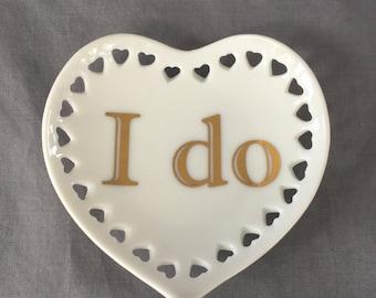 """Heart with Hearts Mini tray - """"I do"""