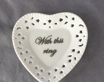 Heart Ring Miniature Tray - With this ring