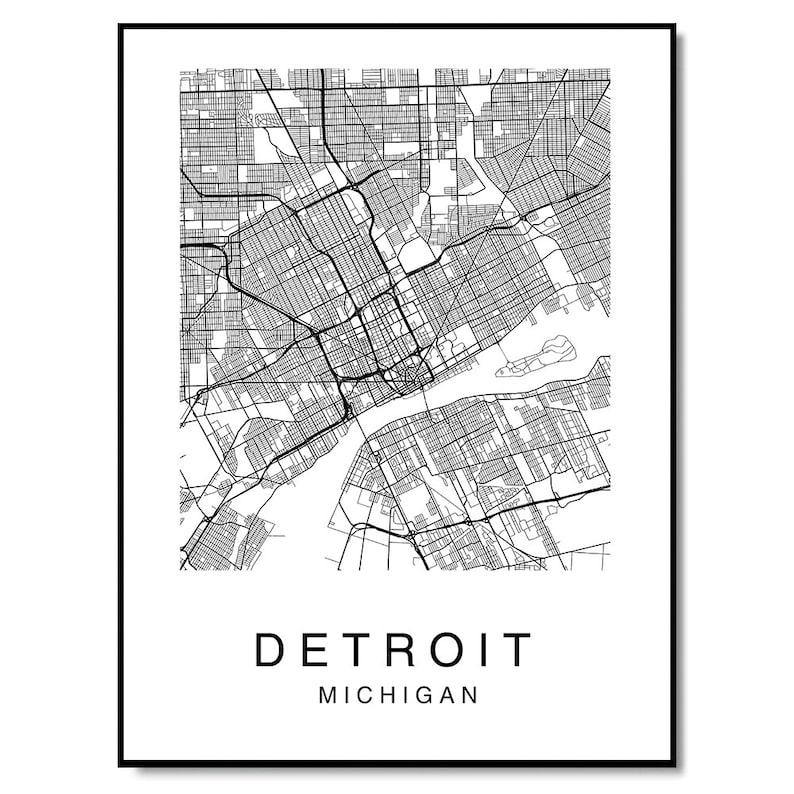 Custom Map Poster Map Print Custom City Print Custom City Map Art Streets Map Minimalist Decor Custom Map Set of 3 Prints Map Print