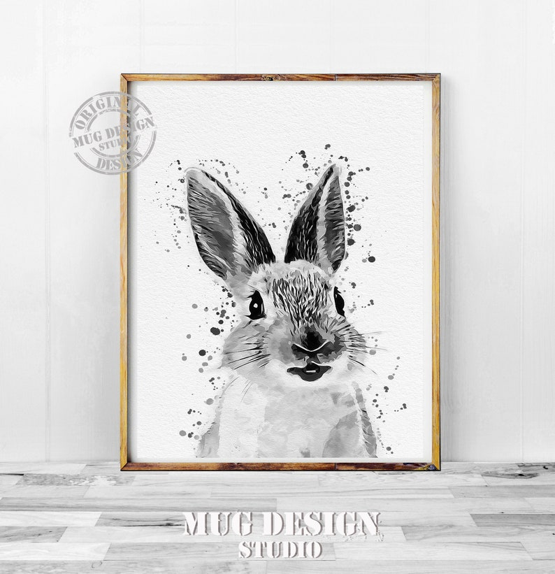 Hare Woodland Animal Head A1 A2 A3 A4 A5 Vintage Art Print Poster