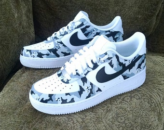 online store 5b3f0 4607b Camouflage Custom Nike Air Force 1