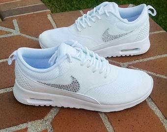 hot sale online 6766f 38f35 Swarovski Crystal Swoosh Women s Nike Air Max Thea