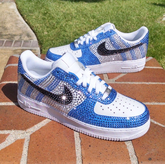 5ec0d850bb8f5 Custom Nike Air Force 1 Crazy Crystal   Etsy