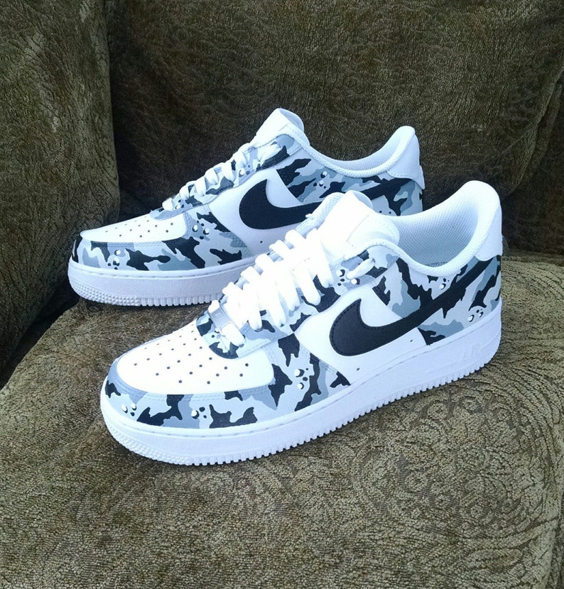 ef0471f3c69b4 Camouflage Custom Nike Air Force 1 | Etsy