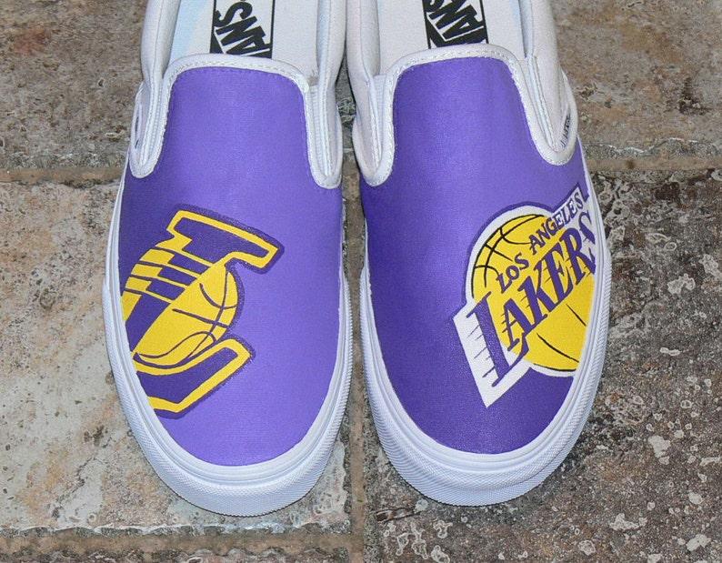 6ab221333ecf LA Lakers Custom Vans