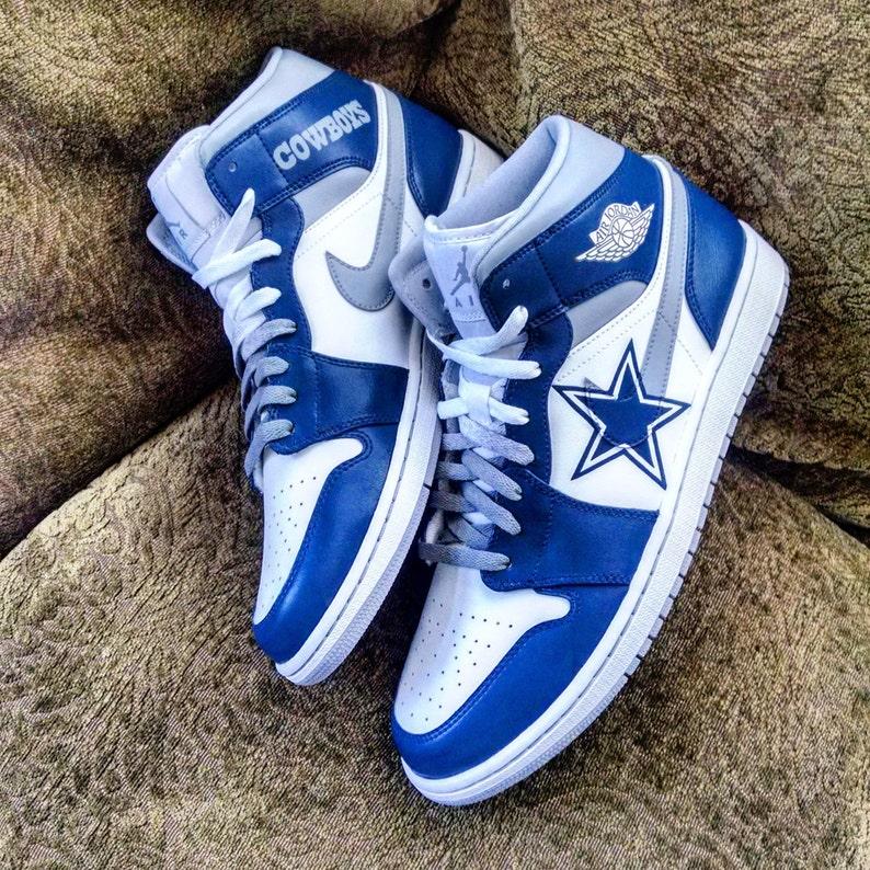 669cdfaad5a89a Cowboys Custom Jordan 1 Mid