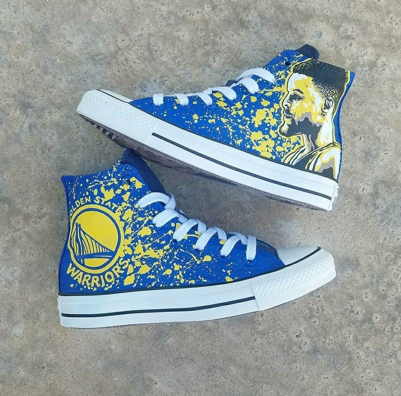 b28ee0f17746 Custom Curry Warriors Converse