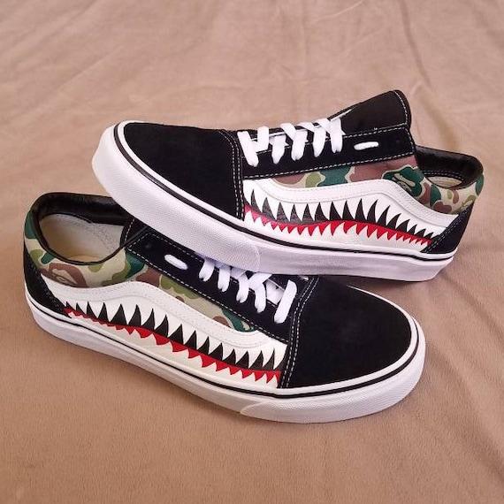 bape shark vans