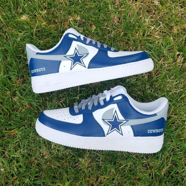 7a00e4ddf1fd27 Cowboys Custom Nike Air Force 1
