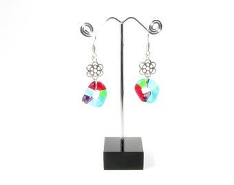 Boucle d'oreille anneaux / Verre fusion /  Bijoux / Accessoires mode / Métiers d'art / LapareBijoux
