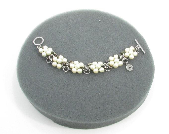 D'une épingle à l'autre /  bracelet original / recyclé / perles d'eau douce / LapareBijoux