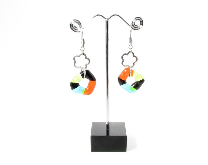 Women's earring, bright, colorful jewelry, gifts, fashion accessories, trend