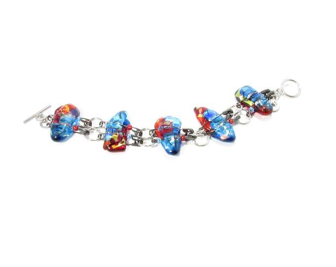 Bracelet / verre fusion / épingles / métiers d'art / accessoires mode / LapareBijoux