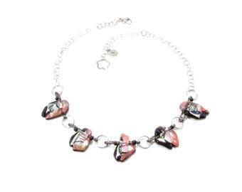 Collier / Verre fusion / Épingles / Bijoux / Métiers d'art / Accessoires mode / LapareBijoux