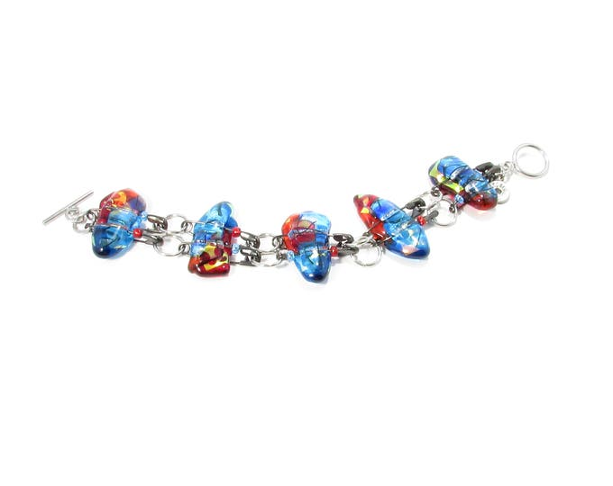 Women's bracelet, jewelry, glass bracelet, colorful, fashion accessories, trend