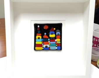 White wood frame and merged glass all in color, A breeze