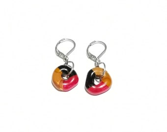 Earrings stainless steel fusion colorful jewel, gifts