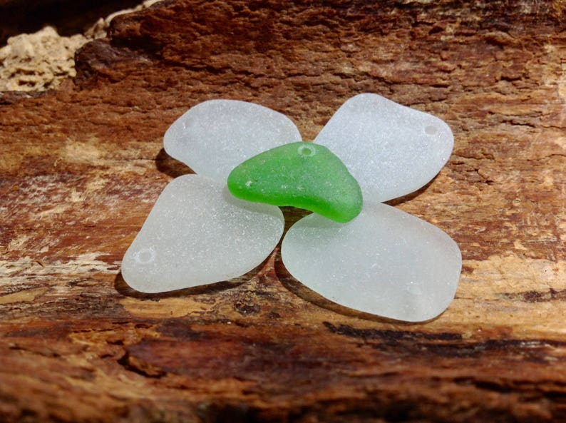 Sea Glass Hole 2 mm Drilled Sea Glass For Jewelry Crafts SmallMiddle Sea Glass Pendant Sea Glass Beads Beach Glass Jewelry Supply Sea Glass