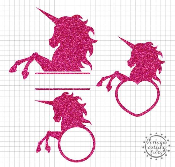 Unicorn Svg Unicorn Monogram Svg Dxf Unicorn Birthday Unicorn Horn Svg  Unicorn Silhouette Svg Cricut Silhouette Vinyl Iron On Cut File DXF