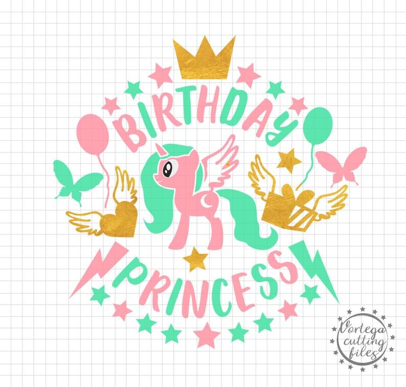 Verjaardag Prinses Svg Verjaardag Meisje Svg Verjaardag Partij Etsy