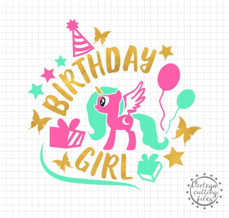 Verjaardag Meisje Svg Verjaardag Meisje Dxf Verjaardag Partij Etsy