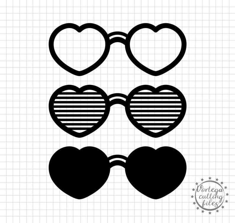 095c4345b0df8 Sunglasses Svg Heart Shades Svg Heart glasses Hearts Svg
