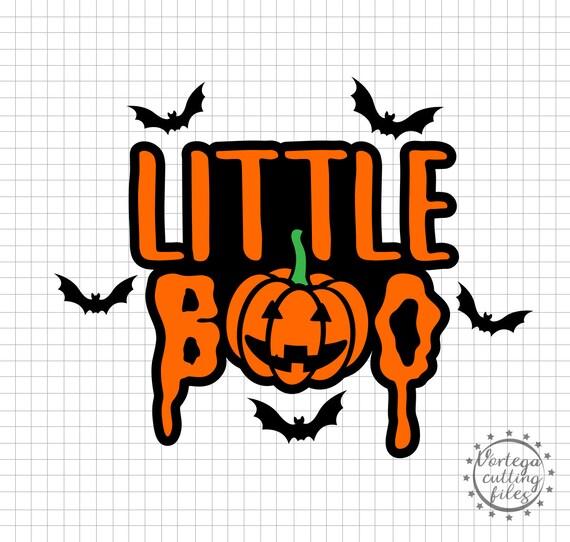 Little Boo Svg Halloween Costume Svg Kids Halloween Svg Dxf Halloween Family Shirts Pumpkin Svg Cricut Silhouette Iron On Halloween Dxf