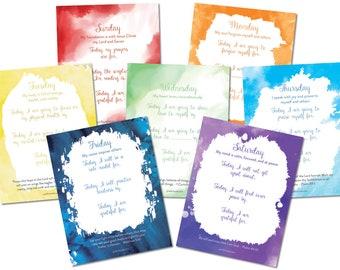 Daily Scripture + Gratitude Affirmation Printables, Digital Download, Instant Download, Bible Printable
