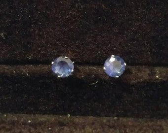 September birthstone Sapphire Stud  Earrings