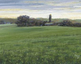 Amish Farmland - original pastel landscape by Michael Scotko
